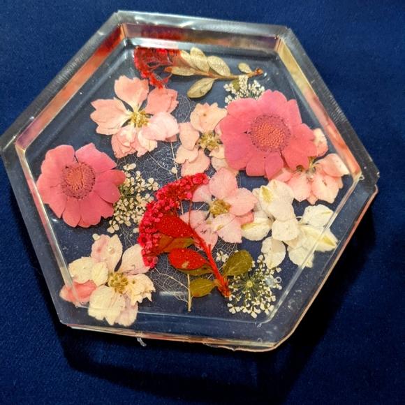 Pink Flower Coaster